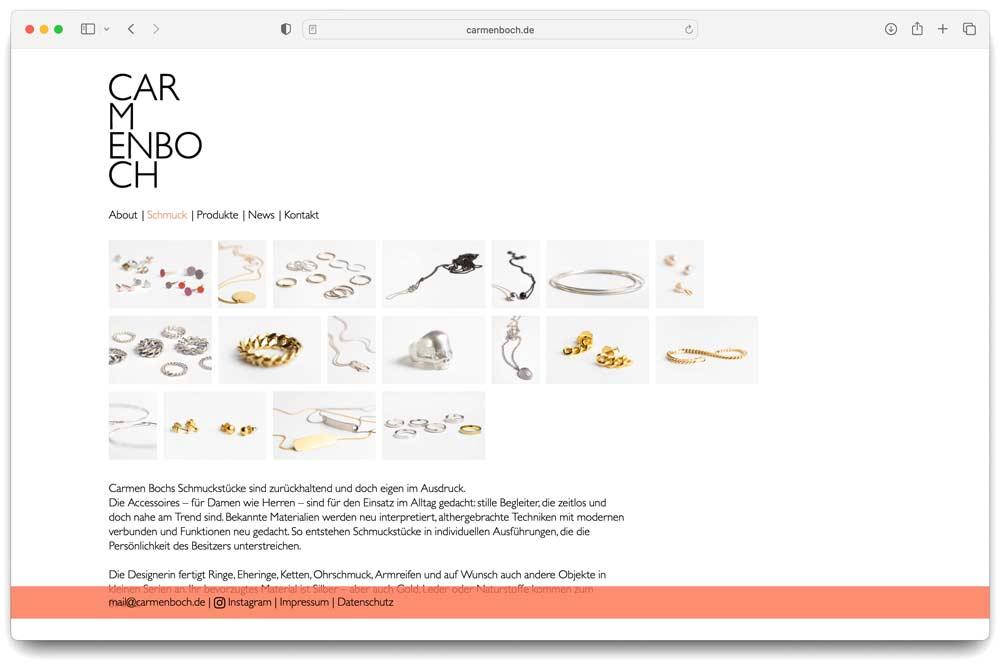 Carmen Boch Webseite